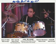 HAL BLAINE STUDIO SESSION DRUMMER SIGNED 8X10 PHOTO 5 w/COA THE WRECKING CREW