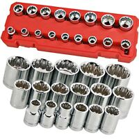"17pc 3/8"" Drive Socket Set  8.9.10.11.12.13.14.15.16.17.18.19.20.21.22.23 & 24mm"