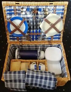 Picknickkoffer komplett NEU Edelstahl Besteck unbenutzt für 4 Personen