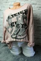 Italy Shirt Longsleeve Gr. 36 38 40 42 Hemd Print Sweat Shoes blogger rosa