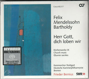 Mendelssohn- Herr Gott, Dich Loben Wir BRAND NEW CD Free 1st Class UK P&P
