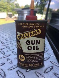 Vintage Williams Gun Oil Small Can 3 Oz