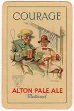 Playing Cards 1 Swap Card Old Vintage COURAGE Brewery ALTON PALE ALE Beer SIGNED