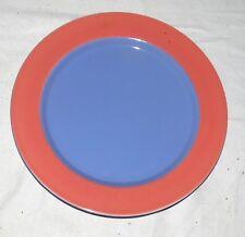 "Lindt Stymeist Colorways 10.7/8"" Dinner Plate - Blue & Salmon"