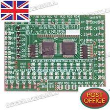 Electronic diy kit smd composants souder pratique plaque pour la formation avec 8 cata l
