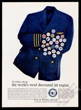 1960 Pan Am TWA American Airlines etc pilot uniform logo pins Pratt & Whitney ad
