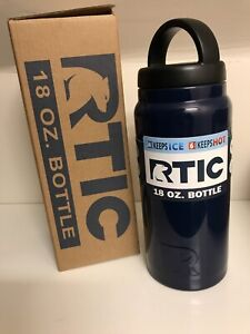 NWT - RTIC 18 oz Bottle Insulated Thermos Blue