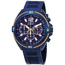 Guess Surge Chronograph Blue Dial Men's Watch W1168G4