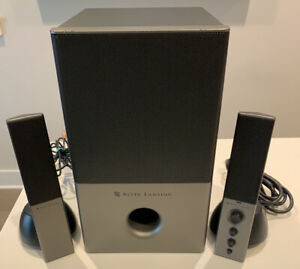 Altec Lansing VS4121 Computer Speakers - Functionality Tested - Gray Version!