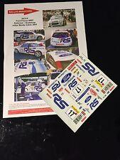 DECALS 1/24 FORD FOCUS WRC DELECOUR RALLYE MONTE CARLO 2001 RALLY NO ALTAYA