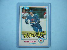 1981/82 TOPPS NHL HOCKEY CARD #39 PETER STASTNY ROOKIE NM+ SHARP!! 81/82 TOPPS