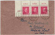 DDR 1952, 3er-Streifen Lortzing als selt. MeF portogerecht auf Fernbrief -7916-