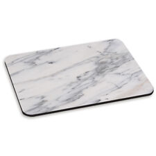 MARBLE GREY WHITE VEINED PC COMPUTER MOUSE MAT PAD - Stone Pattern Effect