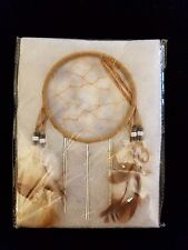 NIP Handmade dream catcher With feathers, bead work, and wind chimes