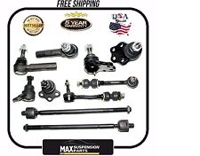 10 Pc Front Suspension Tie Rods Ball Joint for 00-04 DODGE DAKOTA 2WD