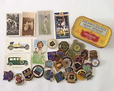 Erinmore Flake Tobacco Tin Cigarette Cards Lawn Bowls Pin Badge Lot Rare (B64)