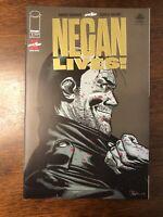 Negan Lives #1 Rare Gold Foil Variant 1 Per Store. Walking Dead.