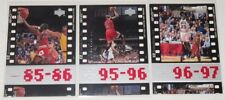 1998 Michael Jordan Chicago Bulls Upper Deck 23 MJ Timeframe 3-Card Lot NM Cond