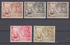 Laos 1956 Full Set Sc#27-29 + C20-21 Anniversary Buddhist Era  MLH.