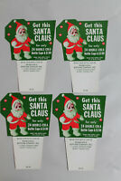 4 VINTAGE DOUBLE COLA Santa Claus ADVERTISING Cards Signs Quincy Fl