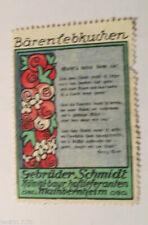 """ Vignette "" Ours Lebkuchen,Frères Schmidt,Fabrik-Mainbernheim(21150)"