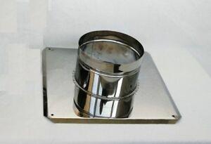 Stainless Steel Chimney base plate Fireplace Shelf Fireplace patch base plate 80-200mm