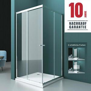 Duschkabine Eckeinstieg Schiebetür Glas NANO Satiniert Dusche Duschabtrennung