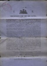 More details for 1897 dumfries inn & hotel certificate to joseph wyper, masonic arms, bank st