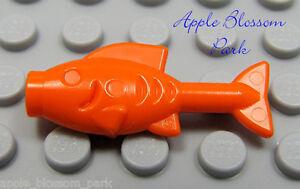 NEW Lego Minifig Orange GOLDFISH Animal Pirate Food - 10218 Minifigure Pet Fish