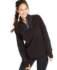 NWT Ideology Women's Quarter-Zip Fleece Pullover Long Sleeve Pullover Black XS