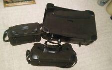 000 Vintage Pierre Cardin 3 Piece Luggage Suitcase Set Soft Side Unused?