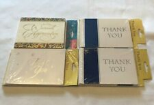 Thank You Cards With Envelope Blank Inside Lot of 4 (34 Cards Total)-NIP