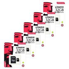 5x 32GB Kingston Micro SD SDHC Memory Card UHS-1 Class 10 Inc SD card Adapters