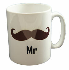 Mr moustache Couples Mug Family Office Valentines Day Cup Gift
