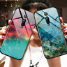 For Xiaomi Mi 9T Pro 9SE A3 Lite Starry Sky Marble Tempered Glass Hard Back Case