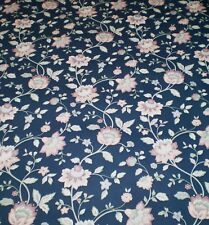 Classic Multi-Color Jacobean Floral on Dark Blue Wallpaper by Fine Decor 04429