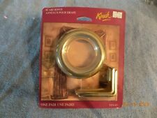 Kirsch Drapery Curtains Scarf Rings 5454-63 Polished Brass Sealed Package N.O.S.