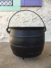 Antique 3-Footed Cast Iron Cauldron Pot Kettle Hearth Fireplace