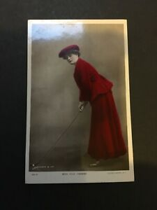 Miss Evie Greene playing golf, early 1900s