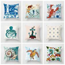 Ocean Style Sea Animals Throw Pillow Case Sofa Cushion Covers Home Decor KHG2