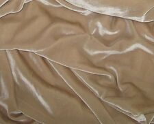 "Silk VELVET Fabric SAND BEIGE 9""x22"" remnant"