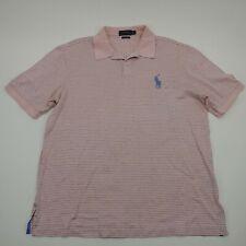 Polo Ralph Lauren Mens Pink Short Sleeve Collared Cotton Polo T Shirt Size XL