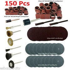 "150 Pc Rotary Power Tool Set 1/8"" Shank Sanding Polish for rotary tool"