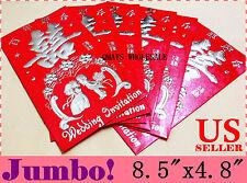 x6 Jumbo Large Chinese Wedding Red Envelope Lucky Money Bag Party Betrothal 过大礼