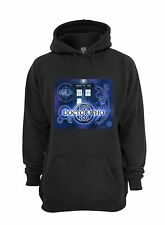 Doctor Who Tardis Hoodie Sweatshirt - Black - Size 3Xl - Blue Box Gallifrey