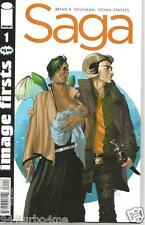 SAGA #1 (IMAGE FIRSTS) Brian K Vaughan, Fiona Staples crease binding