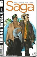 SAGA #1 (IMAGE FIRSTS) Brian K Vaughan, Fiona Staples crease binding