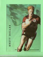 1996 RUGBY LEAGUE  ACETATE CARD  A4  BRETT  DALLAS, NORTH SYDNEY BEARS