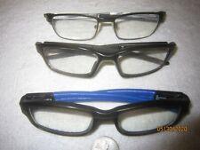 Lot of 3 Oakley Eyeglasses TINCUP-CROSSLINK-PANEL Men Women BIG WIDE SEXY Racing
