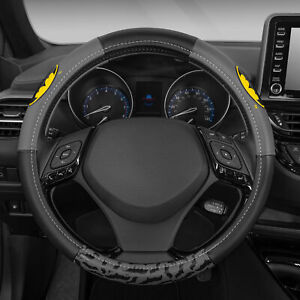 Batman Leather Steering Wheel Cover Universal Size for Car SUV 14.5-15.5